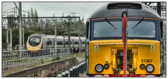 Insurance Policy #57307 (david.hayes77) Tags: class57 57307 ladypenelope class390 pendolino virgin 1m08 rugby 2018 warwickshire drs directrailservices thunderbird wcml westcoastmainline