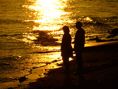 DSC02700 (Shan B.) Tags: sunset dusk love romance sun sunlight orange coast beach cornwall marazion