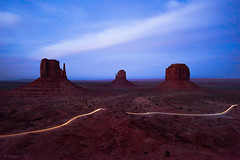 Monument Valley (pn.praveen) Tags: monumentvalley arizona utah navajoland merrickbutte mittens sandstone tribalpark longexposure bluehour butte arizonapassages