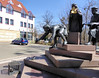 Detail Heinrich-Brunnen (Gertrud K.) Tags: quedlinburg saxonyanhalt fountain sculptures