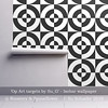 'Op Art Targets by Su_G': Isobar wallpaper Mockup (Su_G) Tags: oparttargetsbysug isobarwallpaper mockupop art targets sug 2018 spoonflower roostery blackandwhite opart target wallpaper fabric sixties 1960s