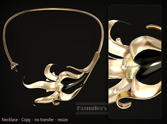 KUNGLERS Rosalia AD ebony (AvaGardner Kungler) Tags: kunglers secondlife avagardnerkungler weloveroleplay digital virtual jewelry necklace fantasy statement mesh