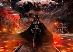 Darth Vader in a Tie Facility (despiram) Tags: darth vader cosplay fire tie fighter star wars