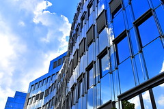 Curves Are Sexy (Robin Shepperson) Tags: glass blue clouds summer offices d3400 nikon berlin germany sky reflection design architecture deutschland white city