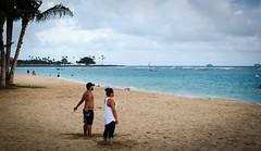 The yoga people (Rabican7-AWAY) Tags: hawaii honolulu island beach ocean pacific sand palmtrees water trees sky clouds colorful relaxing friday yoga people summer oahu