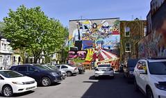 wall painting (tesseract33) Tags: tesseract33 nikon light world art travel city cities nikond750 d750 peterlangpeterlangphotographynetmontrealwall artgraffititagsparking lot montrealphotographers