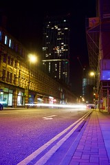 Deansgate. (Snipsnapper. Back after a long absence, long story) Tags: nightshot coloursofnight deansgate manchester