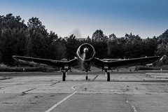 DSC_7199-2 (tspottr723) Tags: composite bw f4u corsair vought ww2 fighter carrier gull wing blue sky greenwood lake airshow 2018 ny nj new york jersey tamron 150600 g2 nikon d500 military aviation warbird blurred prop west milford
