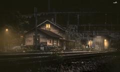 Abandoned Train Station of Gwatt (VandenBerge Photography) Tags: switzerland gwatt travel trainstation illuminate pov canon eos80d lights abandoned tracks