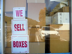 DSC04730 (classroomcamera) Tags: glare glares window windows reflect reflects reflection reflections we sell sale sells selling sales box boxes cardboard sign signs signage white brown red