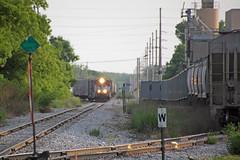 Distant L464 spots loads for Amerhart Lumber (AndyWS formerly_WisconsinSkies) Tags: train railroad railway railfan wisconsinandsouthern wsor watco wamx emd gp392 locomotive