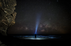 The Universe and me. (Pedro López Batista) Tags: fuerteventura longexposition milkyway vialactea largaexposicion canarias canaryislands canon 6dmarkii 6d flash universe cielo sky