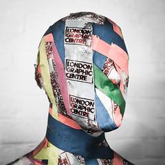 Taped Up (Sean Batten) Tags: london england unitedkingdom gb nikon df 35mm tape art head londongraphiccentre