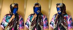 Triptych Threefold (Tonya Chiffon.) Tags: winlar caftan kaftan satin chiffon underscarf facescarf headscarf scarfed scarved headscarfed headscarved