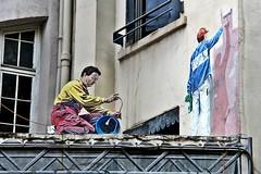 Fresque du Cinéma # 3 (just.Luc) Tags: streetart urbanart lyon rhônealpes graffiti grafitti france frankrijk frankreich francia frança europa europe mannen men männer hommes hombres uomini