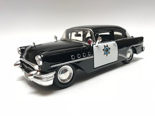 My all time favorite police car, when I was  7 yrs old I watched Highway Patrol on TV in love with the 55 Buick cop car ever since