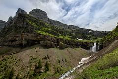 la pointe de Sales avec la cascade de Sales (glassonlaurent) Tags: cascade sales sixt fer à cheval 74 haute savoie france paysage water waterfalls landscape montagnes pointe