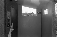(all the bulbs are spent...) Tags: california desert joshuatree joshuatreenationalpark jumborockscampground kodaktrix400 leicam6 mojave restroom skullrocktrail socal twentyninepalms voigtländernoktonclassic35mmf14 yuccatree