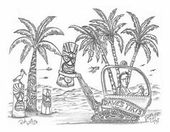 Dave's Tiki's Two (rod1691) Tags: myart art sketchbook bw scfi grey concept custom car retro space hotrod drawing pencil h2 hb original story fantasy funny tale automotive illustration greyscale moonpies sketch sexy