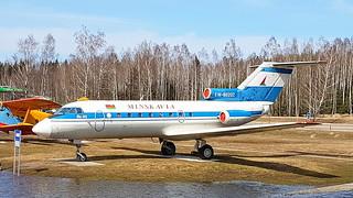 Yakovlev Yak.40 c/n 9630449 registration EW-88202 preserved as Minsk Avia at Minsk International Airport