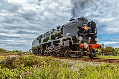 Mainline_2018_06_02_047 (Phil_the_photter) Tags: steam steamengine steamloco steamrailway 34046 braunton 34052 lorddowding wales penmaenmawr anglesey valley saltney rafvalley rhyl conwyriver northwalescoastexpress westcountry battleofbritain