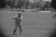 Vintage Baseball, Cantigny Park. 37 (EOS) (Mega-Magpie) Tags: canon eos 60d outdoors vintage baseball cantigny park wheaton dupage il illinois usa america person people men guys dude fella players team bw black white mono monochrome
