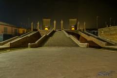 Ponte dei trepponti (boscoloaaron1) Tags: ponte bridge italia italy comacchio emiliaromagna trepponti acqua water scale stairs lights luci notte night storia history city citta nikon nikond5300 d5300 tamron tamron18200