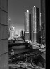 Chicago Marina Tower (b56n22) Tags: architecture d810 nikon 1424 1424f2 ultrawide city scape cityscape chicago chicagoriver river buildings lookingup downtown blackandwhite mono