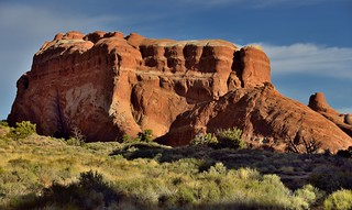Lights and Shadows Cast Across the Utah Landscape (Arches National Park)