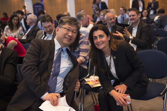 Young Tae Kim and Susanna Zammataro attend the planery session