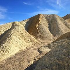 Twenty Mule Team Canyon, Death Valley (PeterCH51) Tags: twentymuleteamcanyon canyon zabriskiepoint deathvalley nationalpark dvnp california usa deathvalleynationalpark bizarre erosional landscapes scenery erosion hills iphone peterch51 desert square squareformat america