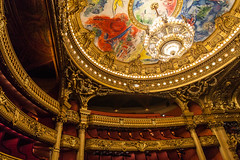 care for opera? (nzfisher) Tags: operahouse opera chandelier lights ceiling seats architecture building palaisgarnier paris 24mm canon france holiday travel baroque luxury interior gold painting elaborate art column color colour colorful colourful