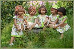 Kindergartenkinder ... je später der Abend ... (Kindergartenkinder 2018) Tags: kindergartenkinder annette himstedt dolls sanrike milina tivi annemoni kindra gruga grugapark