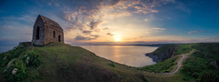 Rame Head (Timothy Gilbert) Tags: lumix laowacompactdreamer75mmf20 sunset ramehead m43 microfourthirds panasonic microfournerds coast panorama cornwall whitsandbay gx8