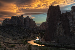 Golden Hour (chasingthelight10) Tags: events photography landscapes canyons highdesert nature vistas rivers sunsets sunset places centraloregon oregon smithrock smithrockstatepark crookedriver