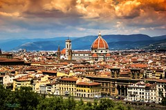 Renaissance City (mikederrico69) Tags: renaissance firenze italia italy city cityline europe clouds colors tuscany buildings old architecture duomo church cathedral trip travel roofs rooftops town