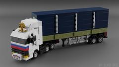 KamAZ-54115 [Tiny Turbos scale] (initial_dvache) Tags: ldd lego blender mecabricks car truck 4wide tt