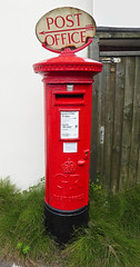 George V cypher B type post pillar box with Post Office sign Orchard Avenue junction Sandbanks Road Poole 07.09.2017 (1) (The Cwmbran Creature.) Tags: g p o gpo general post office street furniture red heritage letter great britain gb british rail class train trains railways railway