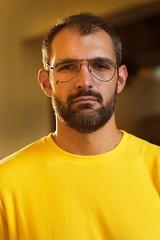 Andy (Connor Wilkinson) Tags: wiltonmanors gay guy fortlauderdale riverwalk guys men facial hair yellow
