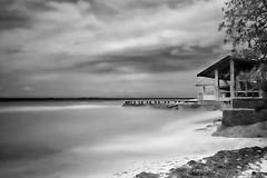 Freedive HQ Cebu Philippines (tanreineer) Tags: nikond5300 white black exposure long clouds marigondoncebu marigondon freedive resort seashore seascape nature beauty ndfilter longexposure blackandwhite beach freedivehqphilippines philippines cebu