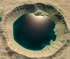 Terraformed & Flooded Crater in Terra Sirenum on Mars (Kevin M. Gill) Tags: mars terraforming crater hirise computergraphics cgi planetary science astronomy space