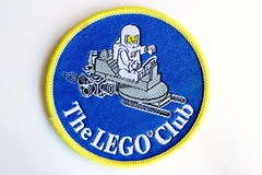 Classic space woven/embroidered patch (BF Bricks) Tags: lego ephemera collectible patch sew embroidered 90s 80s