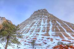 5D4_0493_4_5_DPP_PMTX_PS.Comp2048 (SF_HDV) Tags: canon5dmarkiv canon5dmark4 5dmarkiv 5dmark4 5dm4 utah park nationalpark zion zionnp zionnationalpark mountain mountainside hdr hdrfx mesa checkerboardmesa snow snowcovered