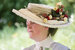 victorian lady_8289 (mistycrow) Tags: lady hats flowers victorian dresses dress costume costumes kentwell hall melford suffolk portrait