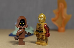 C-3PO and friend (N.the.Kudzu) Tags: tabletop lego minifigures starwars c3po canondslr canoneflens macro flash primelens