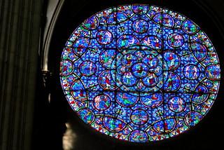 Dijon (21) : rosace de l'église Notre-Dame