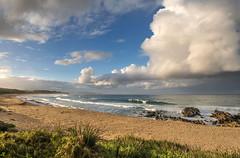 Rain cloud at Cuttagee (OzzRod) Tags: sony a7rii supertakumar28mmf35 seascape landscape cloudscape clouds beach sea waves cuttagee farsouthcoast nsw