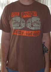 #3018A Sex Pistols - Pretty Vacant (Minor Thread) Tags: minorthread tshirtwars tshirt shirt vintage rock concert tour merch brown sexpistols prettyvacant bus punk emi records