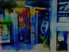 Life on the Shelf (Karen Kleis (Back Sunday!)) Tags: arteffects digitalart photomanipulation books bookshelf life texture sharingart
