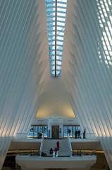 Across the Oculus (ridgewood.photog) Tags: pentax k50 nyc newyork oculus ceiling travel wtc